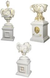 Беседки,  вазоны,  заборы,  фонтаны,  скамейки,  балясины,  колонны,  лавочкы