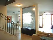 Водопады по стеклу,  зеркалу или камню в доме